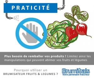Gagnez du temps grâce à un brumisateur fruits et légumes BRUMIFRAIS !