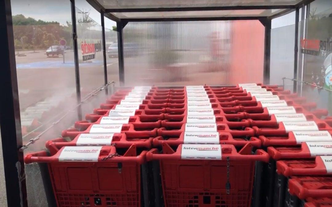 Désinfection de chariots de supermarché : Brumifrais met en avant son produit exclusif «Brum-Hygiène»